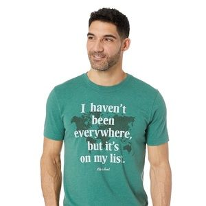 Life Is Good Green Crusher Tee Size Small